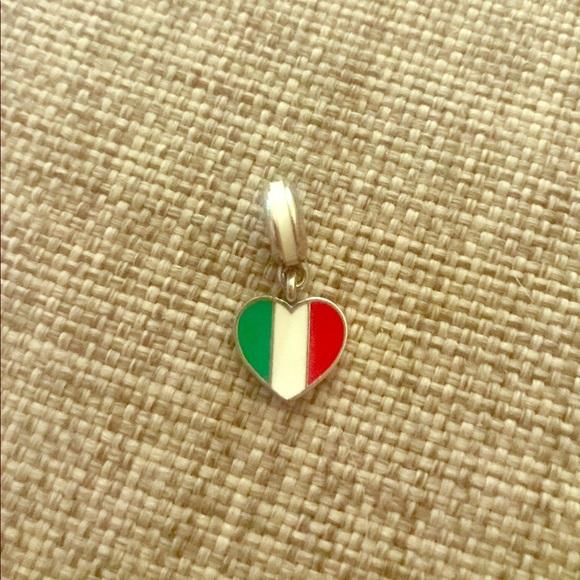 pandora charm italy flag
